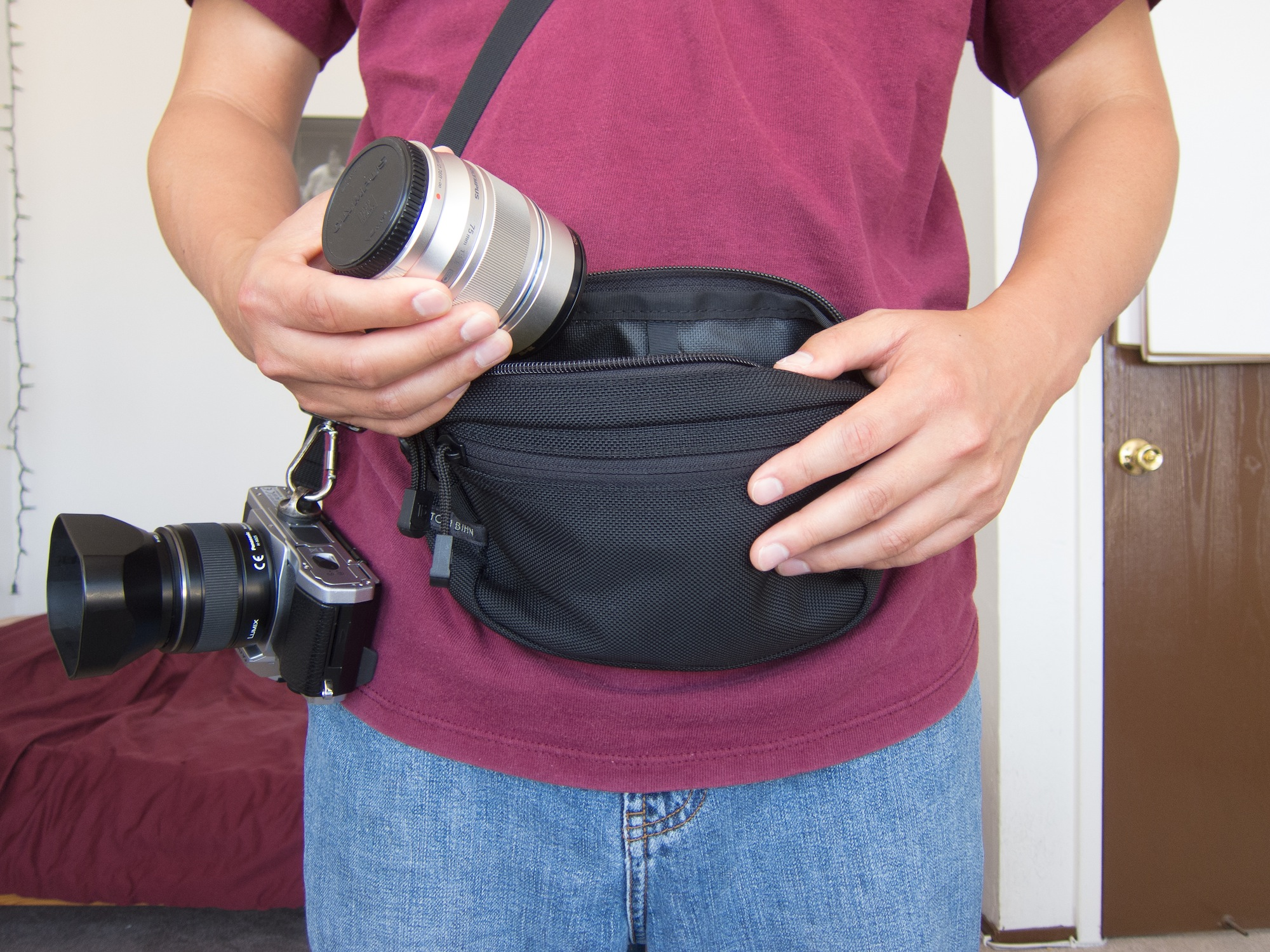 Tom Bihn Side Effect and Camera Lenses